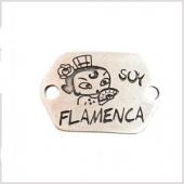 Conector zamak soy flamenca 40x24mm. Agujeros 4mm