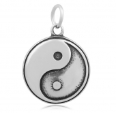 Colgante acero inoxidable yin yang 20mm. Anilla pase 2mm