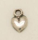 colgante corazon zamak baño de plata 15x9mm. Anilla 2,5mm