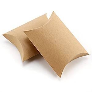 Cajita en forma de petaca papel Kraft (9x6,7x2,5cm)