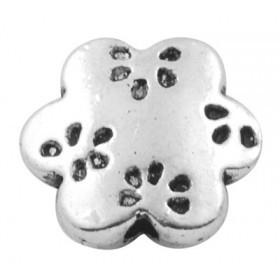 Abalorio metalico flor 13mm. Agujero 1,5mm