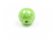 Bolas de ceramica 8mm verde lima. Agujero 2mm