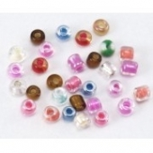 Rocalla 2mm. Agujero 0.6mm 10 Gramos - Mix colores