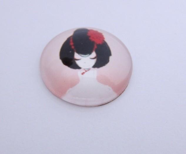 Cabuchon cristal niña 20mm. Mod. 208