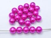 20 unidades.  Abalorios acrilicos lila 10mm. Pase 2,5mm