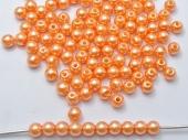 20 unidades. Abalorios acrilicos naranja 10mm. Pase 2,5mm