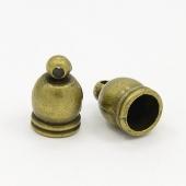 10 unidades. Terminales aleación de zinc bronce antiguo 12x7mm. Interior 6mm