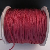 Hilo de nylon trenzado 1,5mm granate.