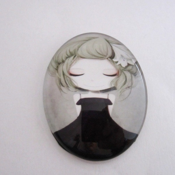 Cabuchon cristal niña 30x40. Mod. 105