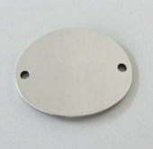 PERSONALIZABLE. Conector acero inoxidable 24x20mm. Agujero 1,5mm.