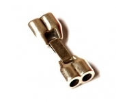 Cierre zamak para 2 cordones de 5mm. Baño de plata