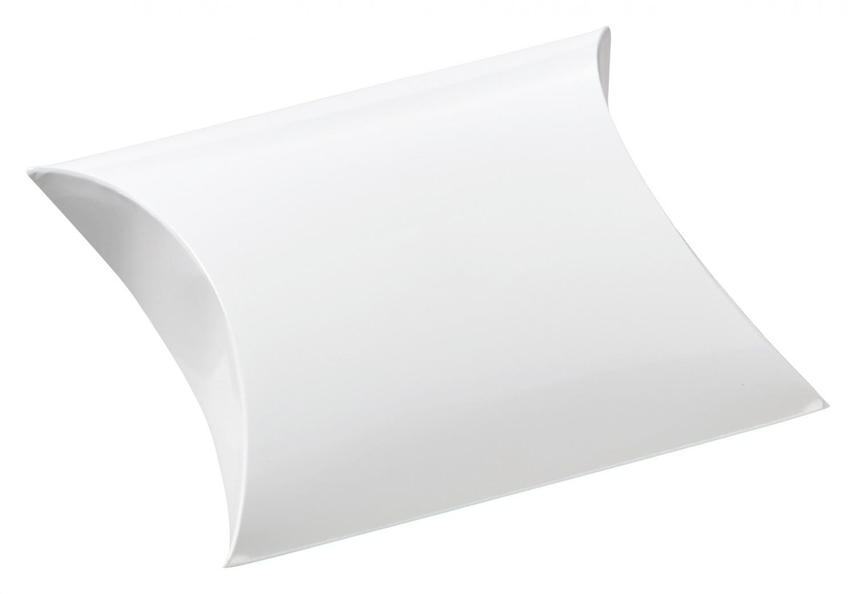 Cajita en forma de petaca blanca 6.4x9x2.5cm.