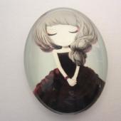 Cabuchon cristal niña 30x40. Mod. 119