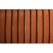 20 cms. Cuero plano 5x1,5mm. marron claro borde negro. Calidad superior