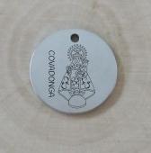 Colgante acero inoxidable Virgen de Covadonga. (Tamaño 18 a 30mm)