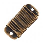 1 unidad. Conector aleación de zinc bronce antiguo 15x7x2mm. Agujeros 1mm