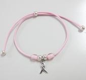 Kit de montaje pulsera cordón elástico 2mm rosa.  (Se entrega sin montar)