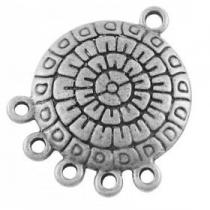 1 unidad. Conector metálico chandelier aleación de metal color plata vieja  27x21x2mm. Agujero 2mm