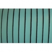 20 cms. Cuero plano 5x1,5mm. verde mar borde negro. Calidad superior