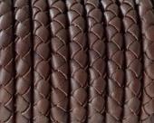 20 cms. Cordón de cuero trenzado 5mm. Color Marrón