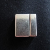 Cierre Zamak magnético baño de plata 25x3mm