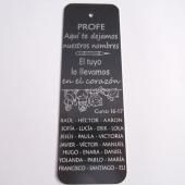 32Marcapáginas aluminio mediano gris oscuro 120x40mm. Agujero 2,5mm. PROFE aquí te dejamos nuestros...  (Plazo 4-5 días)