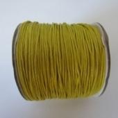 Cordón de algodón 1mm. amarillo. Precio por metro