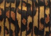 20 cms. Cuero plano 5x1,5mm. leopardo metalizado. Calidad superior