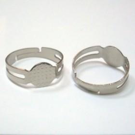 50 Unidades. Bases anillo ajustable 17mm color platino con base 8mm