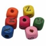 Abalorios letras cubo colores 10x10mm