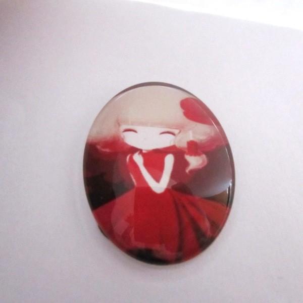 Cabuchon cristal niña 30x40. Mod. 102