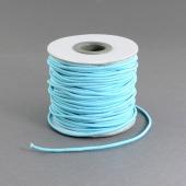 1 metro. cordon elastico 2mm azul cielo